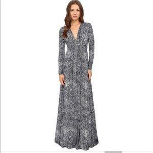 Rachel Pally Black White Printed Caftan Maxi Dress